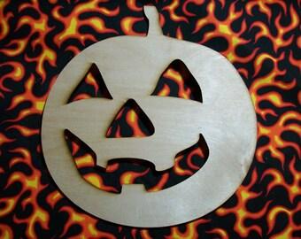 Unfinished Wood Jack-O-Lantern 17.5 inch