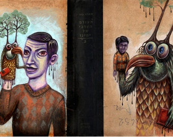 The Puppet Master - Pop Surrealism Painting On Vintage Book Cover.Not available at the moment.