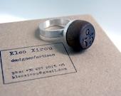 Mens Silver BINGO Ring