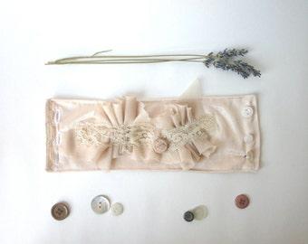 Winter Wedding Jewelry // Recycled Bridal Cuff Bracelet // Handmade Wedding Accessory