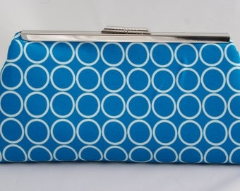 Turquoise Blue Handbag Clutch for Holiday Gift or Wedding Party Gift Bridesmaids Gift Custom Made