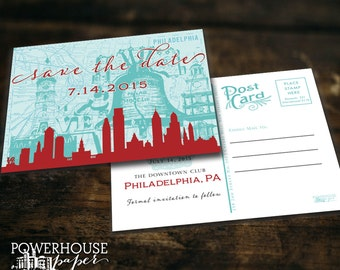 Save the Date Postcard Philadelphia