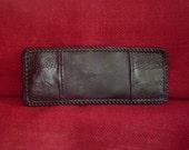 HANDMADE OSTRICH HIDE Bi-fold Wallet in Black