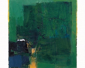 Apr. 21, 2014 - Original Abstract Oil Painting - 9x9 painting (9 x 9 cm - app. 4 x 4 inch) with 8 x 10 inch mat
