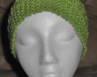 Knitted Headband Ear Warmer Sage Open