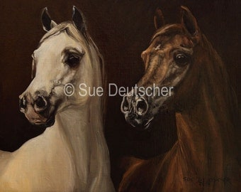 Arabian horse print from painting sold by artist