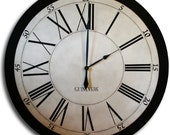Large Wall Clock 46in Newport in Black Gallery Antique Style Family Heirloom READY TO SHIP!