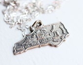 State Charm Necklace - North Carolina