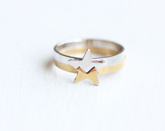 Puzzle Star Ring - Size 5.5
