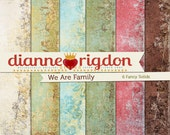 Shabby  Family Tree Backgrounds - Instant Download-High Res-Digital - We Are Family Fancy Solids