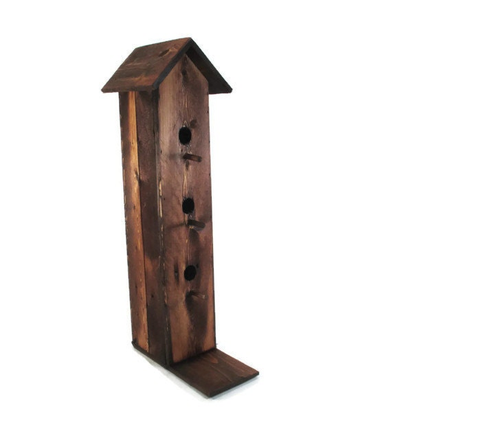 Rustic Decor Tall Bird House Decorative By