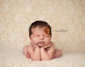 Simple Flower Tieback with a Touch of Sparkle - newborn baby photo prop