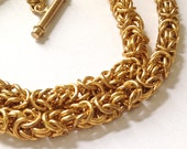 Gold Byzantine Chain Maille Necklace