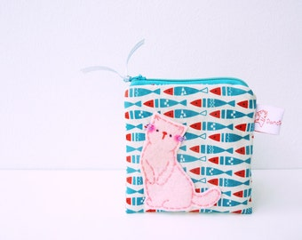 Coin Purse Cat Purse Cute Pouch Zipper Pouch - Gift For Her