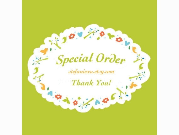 Special order for BumpsandBeans
