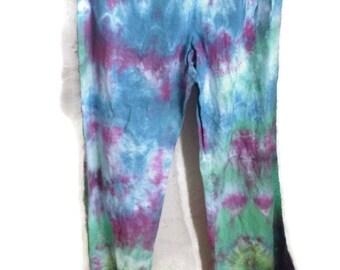 Wideleg colorful tiedye tieside Beach Pants