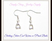 Sterling Silver Ear Wires with Pinch Bails - 20 pieces