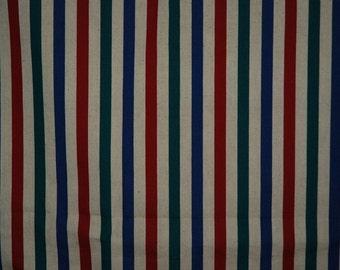 Vintage Striped Heavy Weight  Fabirc Textile - 5+ Yards Unused