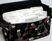 Super Large Size Coupon Organizer Binder / Budget Organizer Holder Box - Zen Blossom Floral
