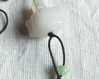 White Jade stone necklace