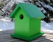 Birdhouse, Bright Green, two-tone