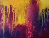 Abstract 16S original abstract painting on canvas, wall art 10 x 9 inch