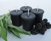 BLACKBERRY SAGE (4 votives or 4-oz soy jar candle)