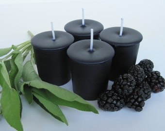 BLACKBERRY SAGE (4 votives or 4-oz soy jar candle)