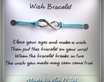 Wish Bracelet, Infinity Wish Bracelet, Charm Bracelet, Friendship Bracelet