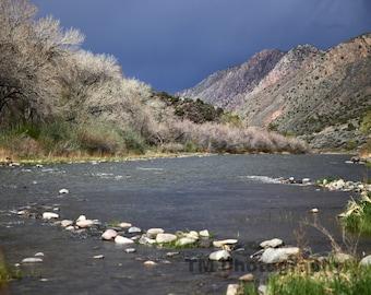 Rio Grande - Landscape - Stormy Rio Grande - New Mexico Landscape - Taos Landscape - Fine Art Photography