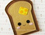 "iPhone sleeve, felt iPhone sleeve, iPhone case, felt iPhone case, iPhone bag, iPhone 5c sleeve, iPhone 5c case, ""Toast Bread design"""