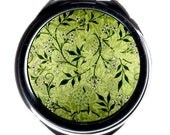 Compact Mirror - Delicate Vintage William Morris fabric design - Jasmine