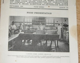 1920 Cornell Reading Course    The Food Preservation
