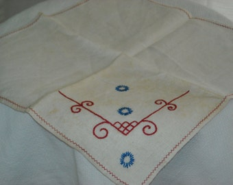 Art Deco style embroidered table scarf