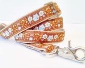 "1"" Wide Custom Ribbon Dog Leash / Handmade / Pet Accessories"