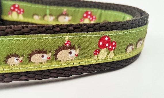 Little Hedgehog Family - Dog Collar / Adjustable / Pet Accessories / Handmade / Gift Idea / Pet Lover