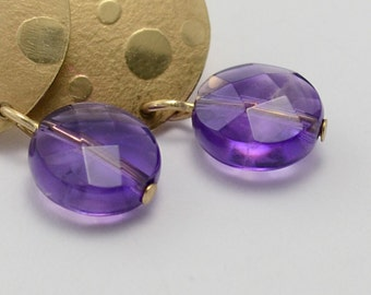 Joy Earrings in 14kt Gold Filled, NuGold and Amethyst
