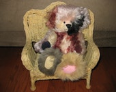 VINTAGE 1990s RARE Pendletons Multi Color Mohair Collectible Ltd Edition Artist Signed Teddy Bear - OOAK Terry Hayes Teddy Bear w/Suede Paws