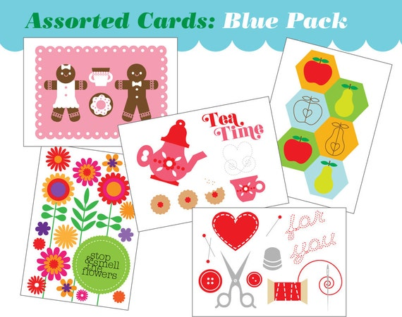 5 pack Assorted All-Occasions Mini Cards