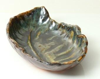 Autumn Leaf Bowl Hand Formed