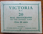 Vintage 1920's Victoria British Columbia Souvenir Photos, Snapshots