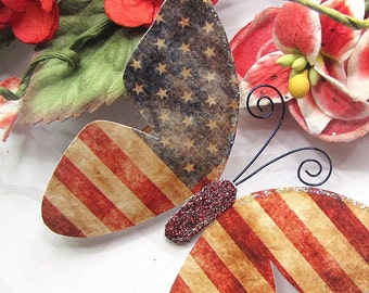 Butterfly Embellishments Patriotic Wings
