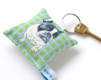 French Bulldog Dog keyring pet keychain
