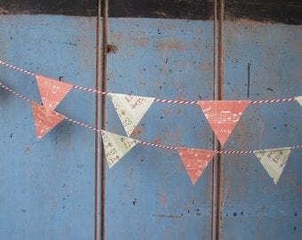 SALE...Happy Birthday Paper Bunting // Paper Garland // Happy Birthday Garland // Birthday Bunting // Party Bunting //Party Decor.
