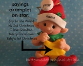 Santa Baby Holding Star/ First Christmas Ornament /  Personalized 1st Christmas Ornament With Gift Box