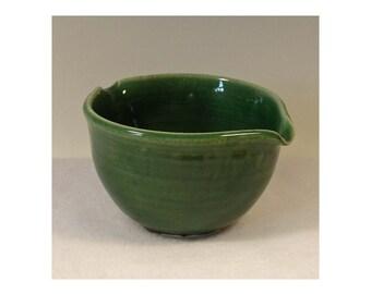 Porcelain Small Grass Green Egg Mixer or Rice Bowl