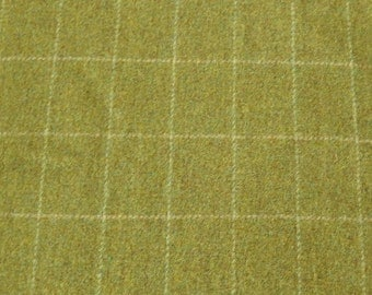 Chartreuse Yellow-Green Felted Wool Fabric Perfect for Rug Hooking, Applique and Crafts by Quilting Acres