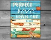 ART PRINTABLE, 1 John 14:18, Christian print, Scripture, Inspirational, Couple, Holding Hands, digital download, perfect love, 8x10