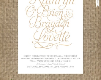 Just My Type Wedding Invitation, Reply Card, Accommodation/Enclosure Card - FREE 2 Day Shipping - Any Color, Paper, Font, Monogram/Logo