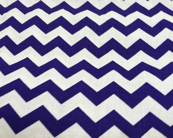 Chevron print fabric purple